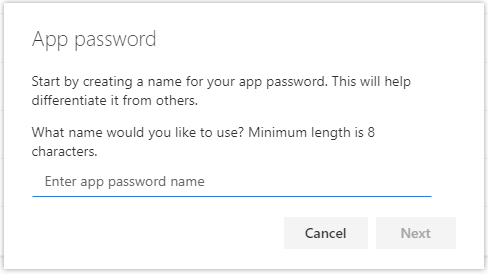 Naming for your app password