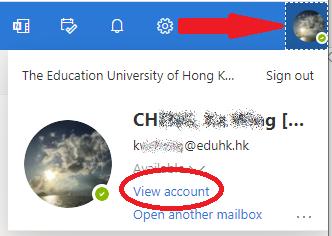 Access O365 My Account setting